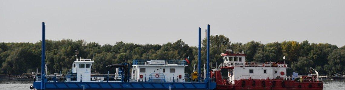 """Нов понтон e вече част от драгажното оборудване на Изпълнителна агенция """"Проучване и поддържане на река Дунав"""" в Русе."""